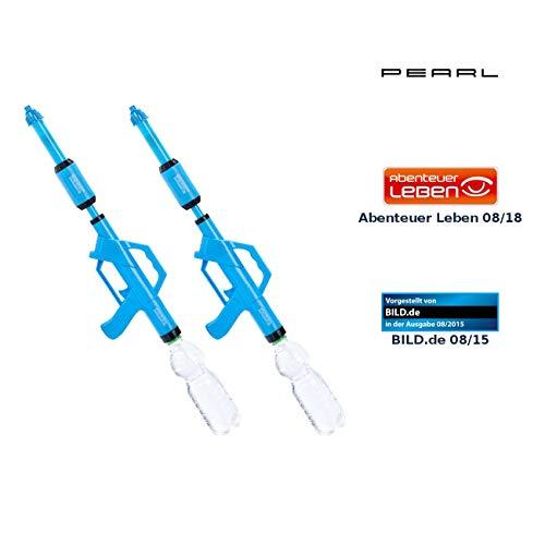 PEARL Wasser-Spritze: 2er-Set Wasserpistolen mit PET-Flaschen-Anschluss (Wasserspritz-Pistole)