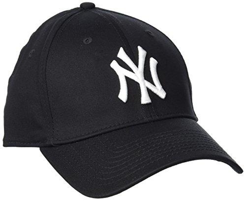 New Era Herren Baseball Cap Mütze M/LB Basic NY Yankees 39Thirty Stretch Back,schwarz/weiß, S/M (Basic Cap)