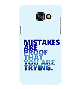 EPICCASE Keep trying Mobile Back Case Cover For Samsung Galaxy A5 (Designer Case)