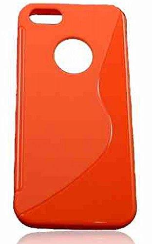 S-CASE SILIKONHÜLLE dunkel orange für Nokia Lumia 730 Lumia 735 Lumia 730 Dual Sim Hülle Etui Flip Cover Silikon Tasche