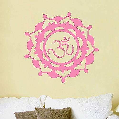 guijiumai Design in Stile Mandala Indiano Wall Sticker Fiore Vinile Adesivo Decorazioni per la casa Soggiorno Murales d'Arte 43 43x43cm