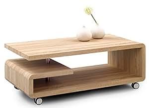 HomeTrends4You 164242 Table basse Chêne imitation Sonoma 115 x 45 x 60 cm
