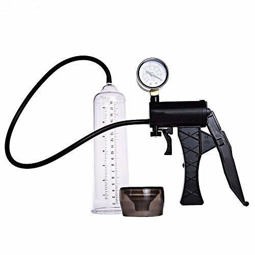 Enshey Penispumpe Vakuumpumpe Erektion Enhancer Großes mit Messgerät Monitor Anfänger für Männer für effektives Penis- sowie Potenz-Training und Stimulation männlichen Penis Pump Vergrößerer Erweiterung Hülse Erektion (Männliche Potenz Enhancer)