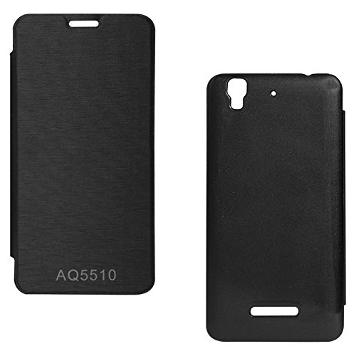 ASG Premium PU Leather Back Replacement Cover For Micromax Yureka Yu AQ5510 (Black)