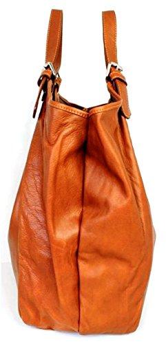 Superflybags , Damen Henkeltasche XL cognac