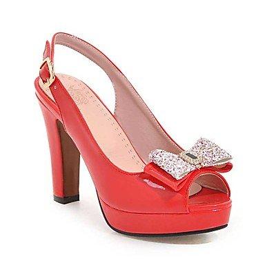 LvYuan Da donna-Sandali-Formale Casual Serata e festa-Altro-Quadrato-Vernice-Nero Rosa Rosso Bianco Beige Red