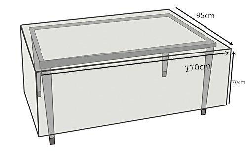 Schutzhülle für rechteckig Gartentisch,Wetterschutzhülle für eckige Tische, Sofa, Liege, Stühle.Wasserdichtes Atmungsaktives Polypropylen Gartenmöbel Abdeckung(170x95x70cm,Grün)