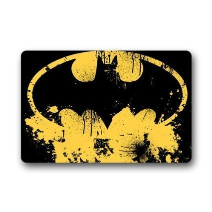 ghkfgkfgk Batman Logo Custom Doormat Non-Woven Fabric Top (23.6