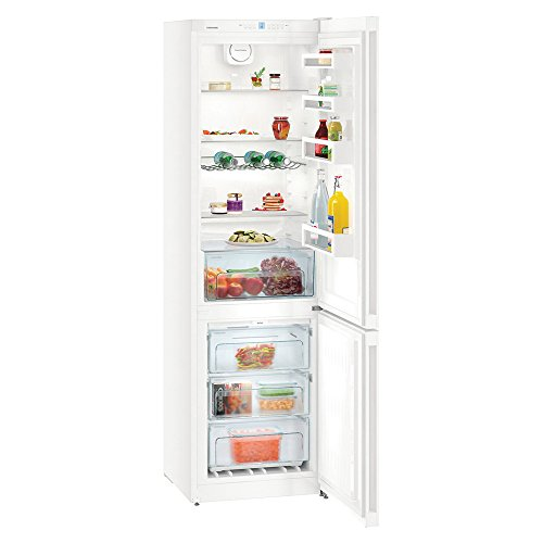 Liebherr CN4813 Freestanding NoFrost 338 litre White Fridge Freezer with DuoCooling, Digital temperature display, LED ceiling light and Reversible Door