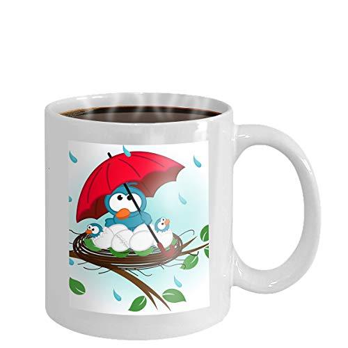 Coffee cup mug blue bird 11oz - Blue Mug Cup