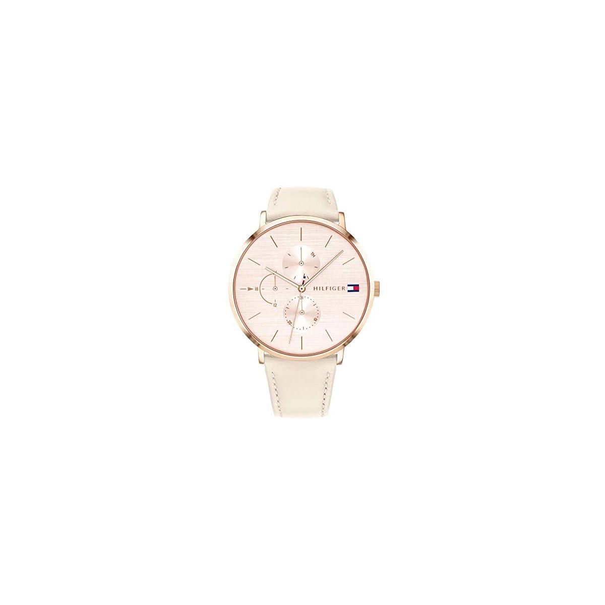 41QZRYatMOL. SS1200  - Tommy Hilfiger Reloj Multiesfera para Mujer de Cuarzo con Correa en Cuero 1781948