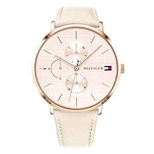 Tommy Hilfiger Womens Multi dial Quartz Watch with Leather Strap 1781948