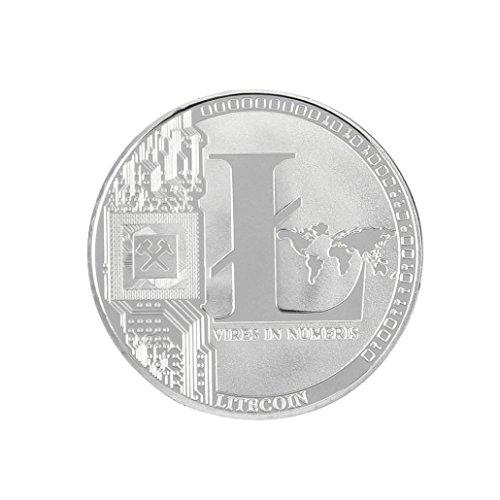 Dekoartikel Münzen,Jaminy 4X Vernickelt Gedenk Litecoin ETH Sammler Gold Eisen Miner MÜNze Geschenk - 4
