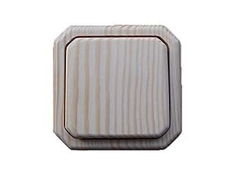 lichtschalter steckdosen holz schalter kompl fichte natur lackiert wechselschalter. Black Bedroom Furniture Sets. Home Design Ideas