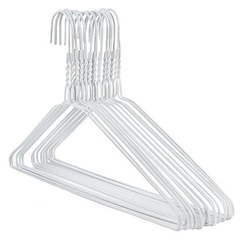 50 weiße Draht-Kleiderbügel – Drahtstärke ca. 2,3 mm (50 Metallo)