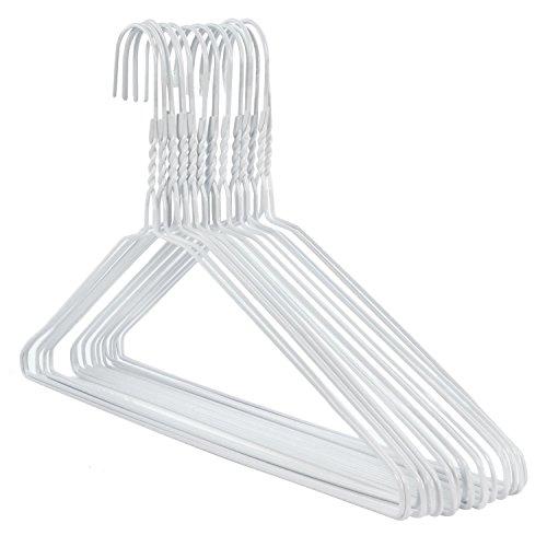 Hangerworld 20 Perchas 40cm Metal Blanco Ahorra Espacio Tintorerías Ideal para Camisas y Pantalones