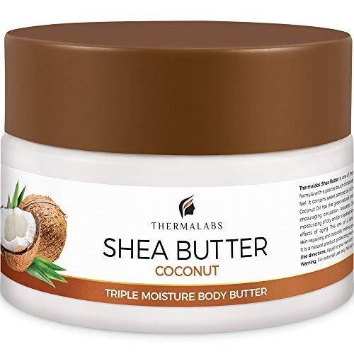 Bio Shea Body Butter: Keine Schwangerschaftsstreifen und trockene Haut! Magische dreifach Lotion Feuchtigkeitscreme verstärkt mit Mineralien des Toten Meeres für herausragende Hautbehandlung (250 ml)
