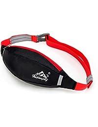 Hunputa Waterproof Running Belt Bum Waist Pouch Fanny Pack Camping Sport Hiking Zip Bag