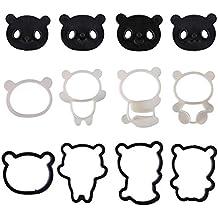 Moldes de Galletas 3D Con Diseño de Mini Panda de Prokitchen®, Set de Moldes