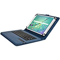 Samsung Galaxy Tab S2 9.7 Custodia con Tastiera, COOPER INFINITE EXECUTIVE Custodia a libro Per Il Trasporto di Tablet con Tastiera Bluetooth QWERTY Wireless Removibile con supporto (Blu)