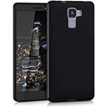 kwmobile Funda para Huawei Honor 7 / Honor 7 Premium - Case para móvil en TPU silicona - Cover trasero en negro mate