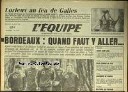 EQUIPE (L') [No 12087] du 20/03/1985 - LORIEUX AU FEU DE GALLES - BORDEAUX - EQUIPE DE NEW-YORK - ATHLETISME - NEIGE - PELEN - TENNIS - VANIER - CYCLISME - WOJTINEK. par Collectif