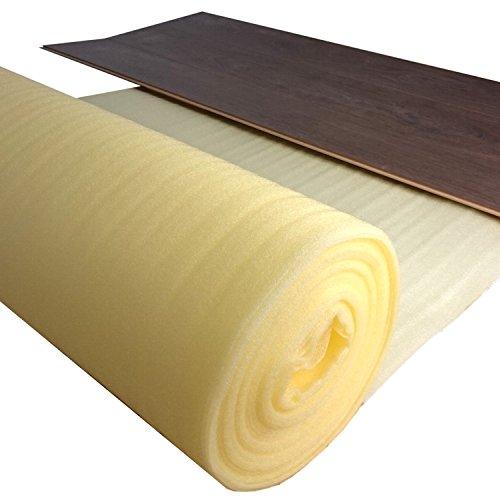 10 m² Trittschalldämmung uficell PE-Leicht - Stärke 2 mm - Akustik Tritt- und Gehschalldämmung für Laminat und Parkettböden - Dichte: ca. 25 kg/m³ - Trittschallverbesserung ca. 17 dB(A) - Sie kaufen 1 Rolle mit 10 m² - (10 m², Stärke: 2 mm)