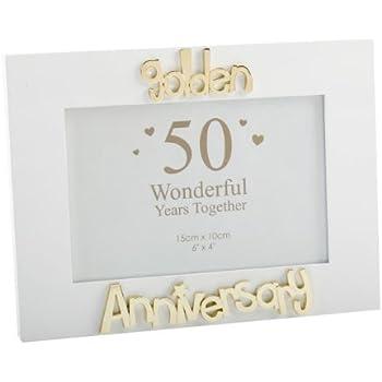 50th / Golden Wedding Anniversary Photo Frame, Gift ...