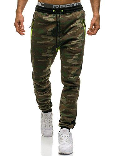 BOLF Herren Trainingshose Jogginghose mit Camo-Muster CRWS DNM 3783C Mehrfarbig XL [6F6] (Training Camo Hosen)