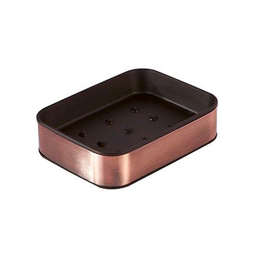 Soap Dish Sink Stainless Steel Oliva Bathtub Shower Dish Rectangular for Sponges, Scrubber, Soap lift,Soap Bar Holder -Bronze