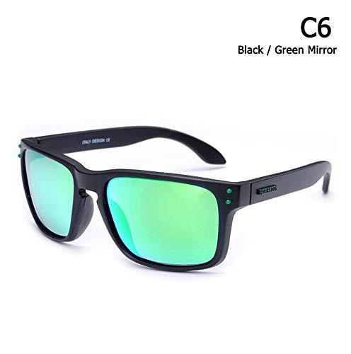 LAMAMAG Sonnenbrille Polarisierte Holbrook Style Sonnenbrillen Outdoor Sports Farbspiegel Sonnenbrillen Oculos De Sol, 6