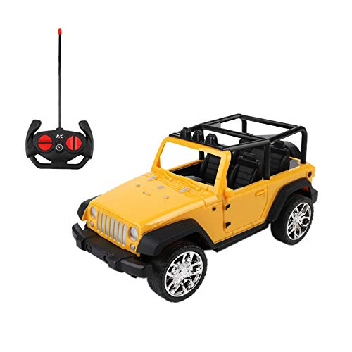 Easy to Control RC Off-Road Vehicle Remote Controlled Racing Truck Radio Control Jeep Car Toys for Kids Children Christmas Holiday Party Favors Gifts (Yellow)