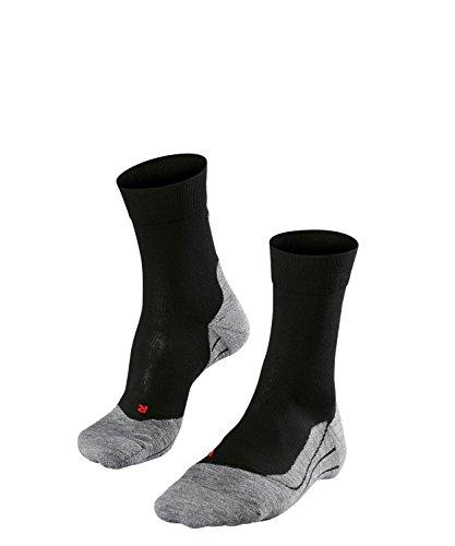 FALKE Herren Socken Laufsocken RU4 - 1 Paar, Gr. 44-45, schwarz, feuchtigkeitsregulierend, Sportsocken Running