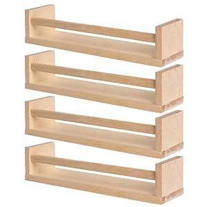 Ikea BEKVÄM Gewürzregale aus massiver Birke; 4 Stück