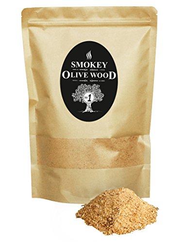 1.5 litri, Polvere per affumicatura a freddo - 50% Faggio, 50% Olivo, Smokey Olive Wood