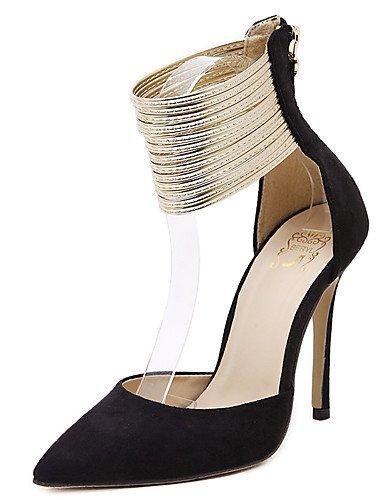 WSS 2016 Chaussures Femme-Habillé / Soirée & Evénement-Noir / Amande-Talon Aiguille-Bout Pointu-Chaussures à Talons-Polyuréthane black-us8.5 / eu39 / uk6.5 / cn40