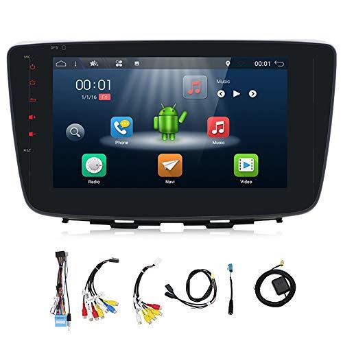 YUNTX Double DIN Car Audio avec en Dash GPS Système de Navigation pour Baleno 2017, 2 DIN Radio de véhicule avec Android 18 cm écran capacitif Muti-Touch Head Unit, autoradio