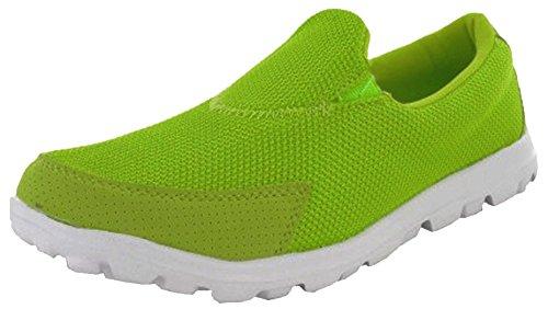 RTB Baskets Chaussures Sport Marche Go Get Fit pour Femme Vert - Citron  Vert 1b4421b5f9e
