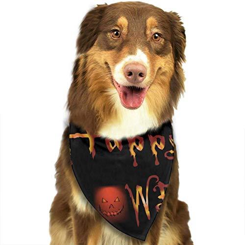 Osmykqe Hundebandana-Haustier-Schal-Halloween-Nachtklassischer niedlicher Haustier-Hündchen-Bandana-Schal Lätzchen (Hündchen Gesichter Für Halloween)