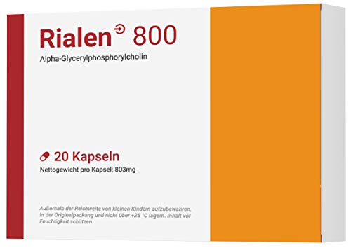 RIALEN 800 I Mit L-Theanin & Aplha GPC I 20 Kapseln