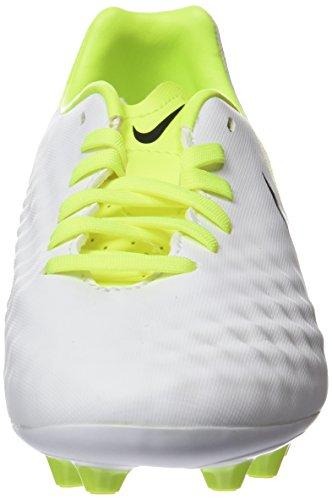 Nike Magista Opus Ii Ag-Pro, Chaussures de Football Entrainement Mixte Enfant Blanc (White/Black-Vert Volt-Pure Gris Platinum)