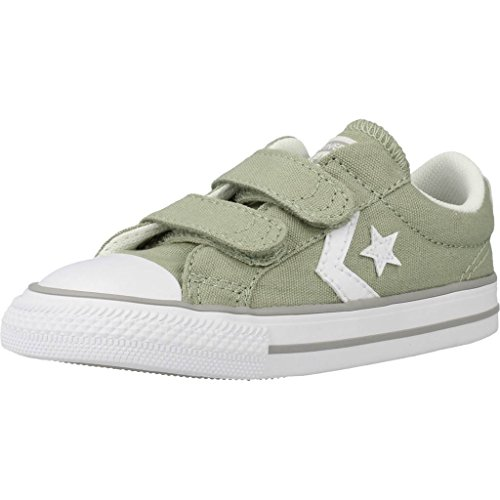 Calzature sportive bambino, colore Verde , marca CONVERSE, modello Calzature Sportive Bambino CONVERSE CHUCK TAYLOR STAR PLAYER 2V OX Verde Verde