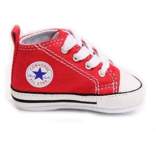 Converse First Star Baby Krabbelschuhe, Rot, Rot - rot - Größe: 34.5 (2 UK)