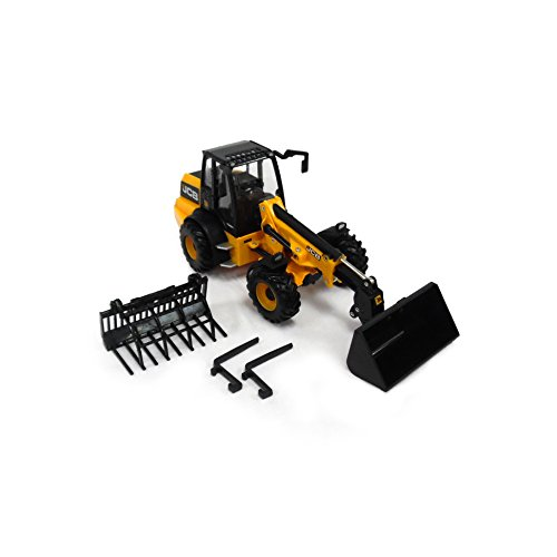 TOMY Britains - JCB TM 310S Lader - Spielzeug Traktor mit Schaufel aus Metall und Kunststoff - für Kinder ab 3 Jahre zum Spielen und Sammeln (Spielzeug Traktor Anhänger 32 1)