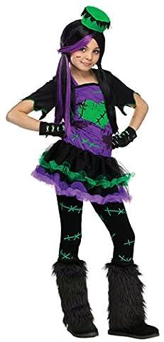 Frankenstein Fille Costume - Filles Frankenstein + Collant & Hat Journée