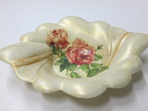Limited Edition Italian Hand Painted 'Country Flower' Candy Dish by Corona Flower Candy Dish