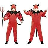 My Other Me - Disfraz de diablo, para niños de 5-6 años, color rojo (Viving Costumes MOM01853)
