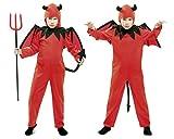 My Other Me Me - Disfraz de diablo, para niños de 5-6 años, color rojo (Viving Costumes MOM01853)