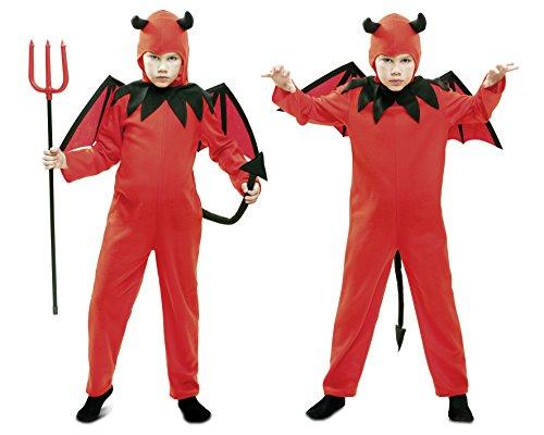 Imagen de my other me  disfraz de diablo, para niños de 5 6 años, color rojo viving costumes mom01853