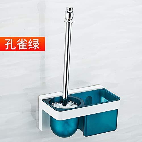 QiXian Bad-Wc-Bürstengarnitur Kreative Punch-Freie Toilettenbürste Racks Wandhalterung Wand-Wäsche-Wc-Bürste Blau Stark Robust, 8443